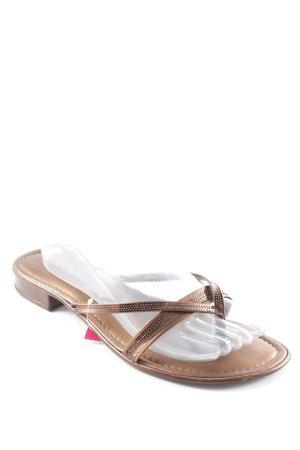 Tamaris Flip Flop Sandalen bronzefarben Glanz-Optik