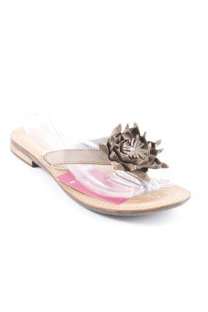 Tamaris Flip Flop Sandalen graubraun-beige Hippie-Look