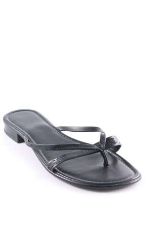 Tamaris Flip Flop Sandalen schwarz Casual-Look