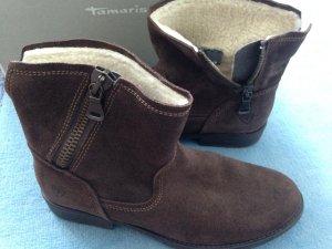 Tamaris gefütterte Winter Stiefelette Wildleder braun Gr 40 Neu