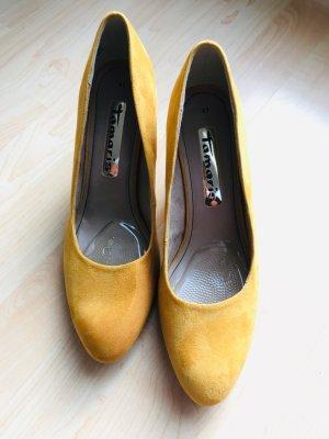 Tamaris Talons hauts orange doré-jaune foncé faux cuir