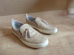 Tamaris - goldene Sneaker mit Quaste 40
