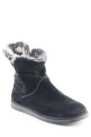 Tamaris Halfhoge laarzen zwart-grijs casual uitstraling