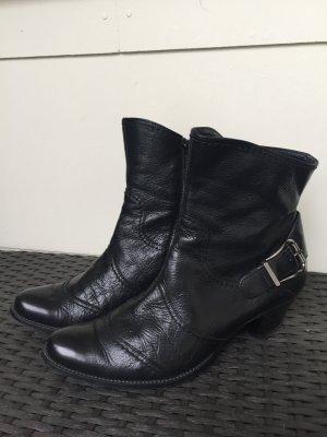 Tamaris Hand Made Stiefel mit Absatz gr 36 / 3 1/2 Echt Leder