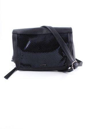 Tamaris Handtasche schwarz abstraktes Muster Casual-Look