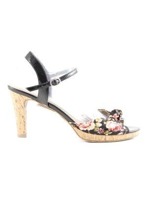 Tamaris High Heel Sandaletten Blumenmuster Casual-Look