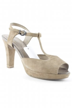 Tamaris High Heel Sandaletten camel-ocker Casual-Look
