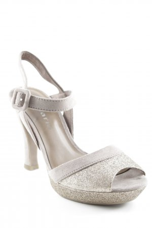 Tamaris High Heel Sandal light brown-gold-colored glittery