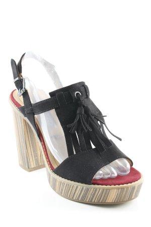 Tamaris High Heel Sandaletten mehrfarbig Boho-Look