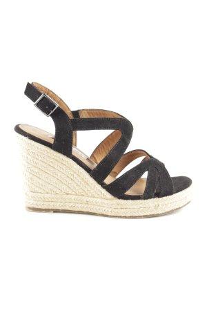 Tamaris High Heel Sandaletten schwarz-beige Casual-Look