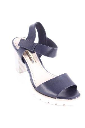 Tamaris High Heel Sandaletten schwarz-weiß minimalistischer Stil