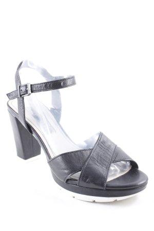 Tamaris High Heel Sandal black-white simple style