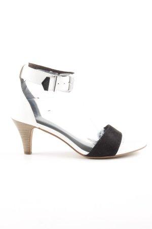 Tamaris High Heel Sandaletten weiß-schwarz Casual-Look