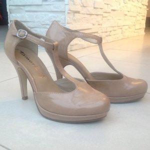 Tamaris High Heel Taggia, beige Gr36,Lederinnensohle