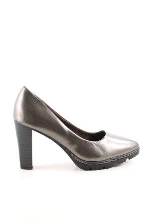 Tamaris High Heels silberfarben Business-Look