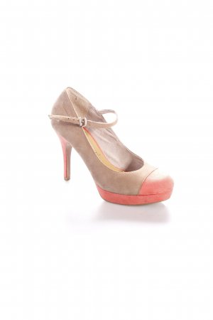 Tamaris High Heels beige-lachs Colourblocking Business-Look