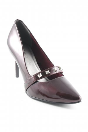 Tamaris High Heels blackberry-red leather-look