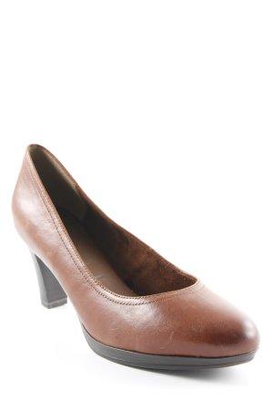 Tamaris High Heels cognac-dunkelbraun Business-Look