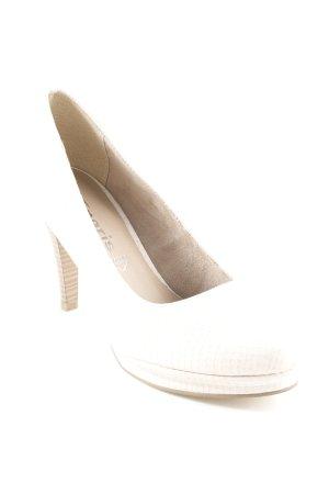 Tamaris High Heels creme Reptil-Optik