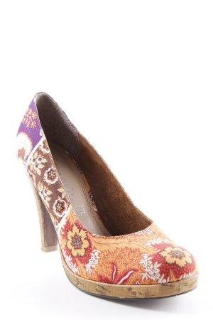 Tamaris High Heels florales Muster Korkelemente