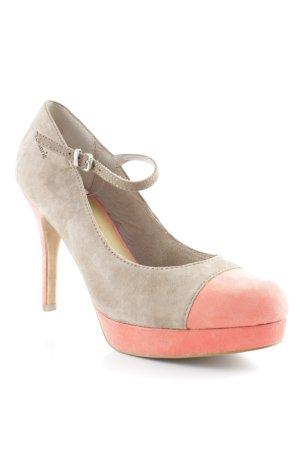 Tamaris High Heels graubraun-neonorange Casual-Look