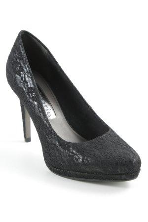 Tamaris High Heels schwarz florales Muster Elegant
