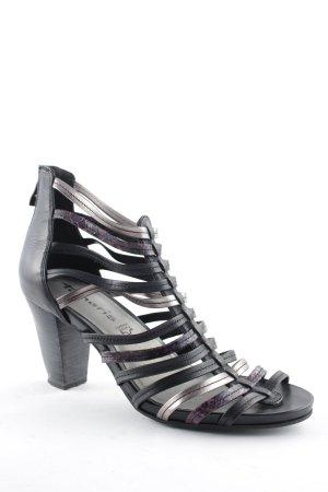 Tamaris High Heels schwarz-grauviolett Casual-Look