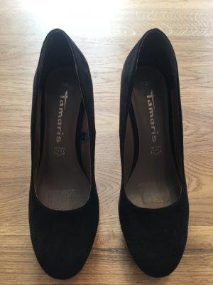 Tamaris High Heels schwarz Samt -Neu-