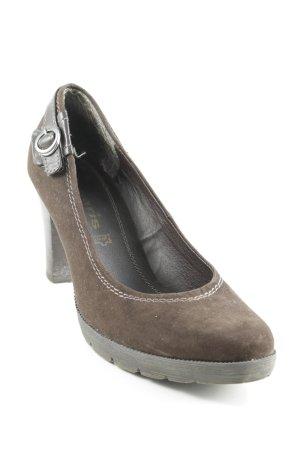 Tamaris High Heels schwarzbraun Business-Look