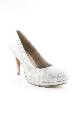 Tamaris Tacones altos color plata elegante