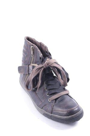 Tamaris High Top Sneaker dunkelbraun sportlicher Stil