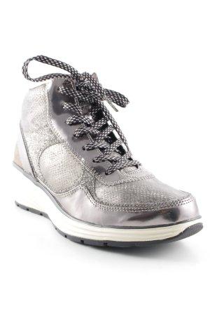 Tamaris High Top Sneaker dunkelgrau-silberfarben Street-Fashion-Look