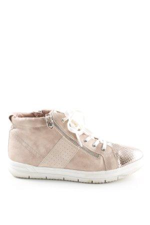 Tamaris High Top Sneaker roségoldfarben Animalmuster Glanz-Optik