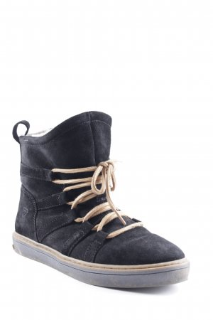 Tamaris High Top Sneaker schwarz-camel Casual-Look