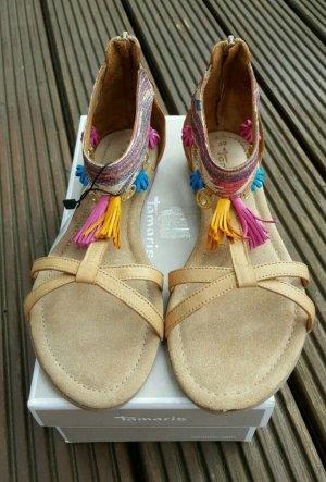 Tamaris - Hippie-Sandale - Gr. 39 - neu
