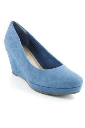 Tamaris Keil-Pumps stahlblau klassischer Stil