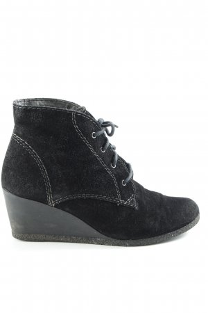 Tamaris Keil-Stiefeletten schwarz Casual-Look