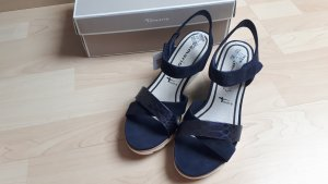 Tamaris Wedge Sandals dark blue