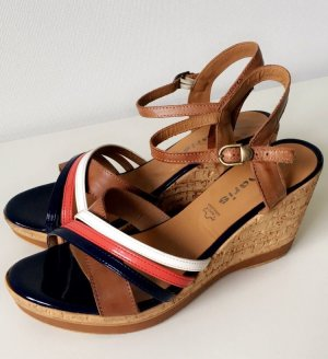 Tamaris Platform High-Heeled Sandal dark blue-brown