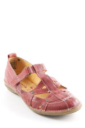 Tamaris Sandales confort rouge foncé-marron clair style rétro