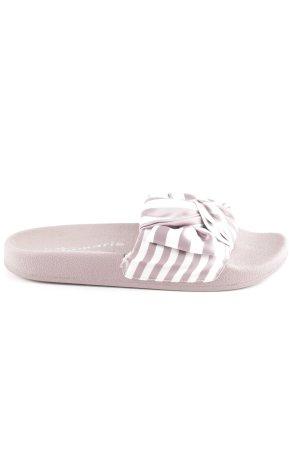 Tamaris Comfortabele sandalen roségoud-wit gestreept patroon Beach-look