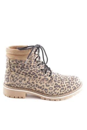 Tamaris Short Boots cream-brown leopard pattern casual look