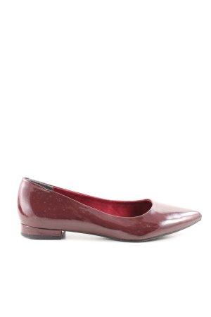 Tamaris Ballerina di pelle verniciata rosso stile professionale