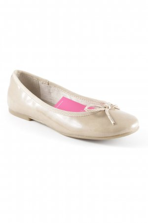 Tamaris Patent Leather Ballerinas beige leather-look