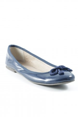 Tamaris Lackballerinas dunkelblau klassischer Stil