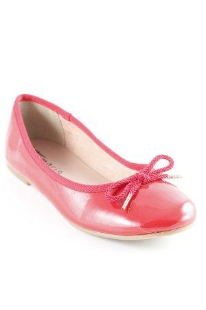 Tamaris Ballerina di pelle verniciata rosso scuro Stile Brit