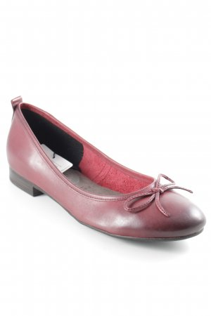 Tamaris Patent Leather Ballerinas dark red classic style