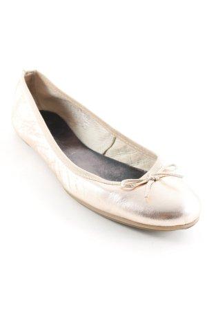 Tamaris Patent Leather Ballerinas rose-gold-coloured casual look