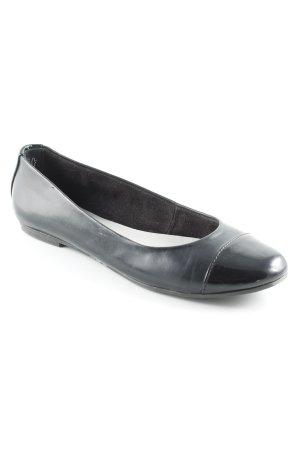 Tamaris Patent Leather Ballerinas black '20s style