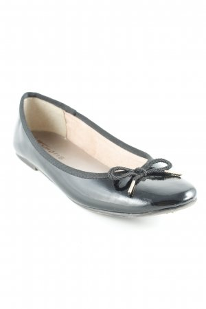 Tamaris Patent Leather Ballerinas black-gold-colored casual look